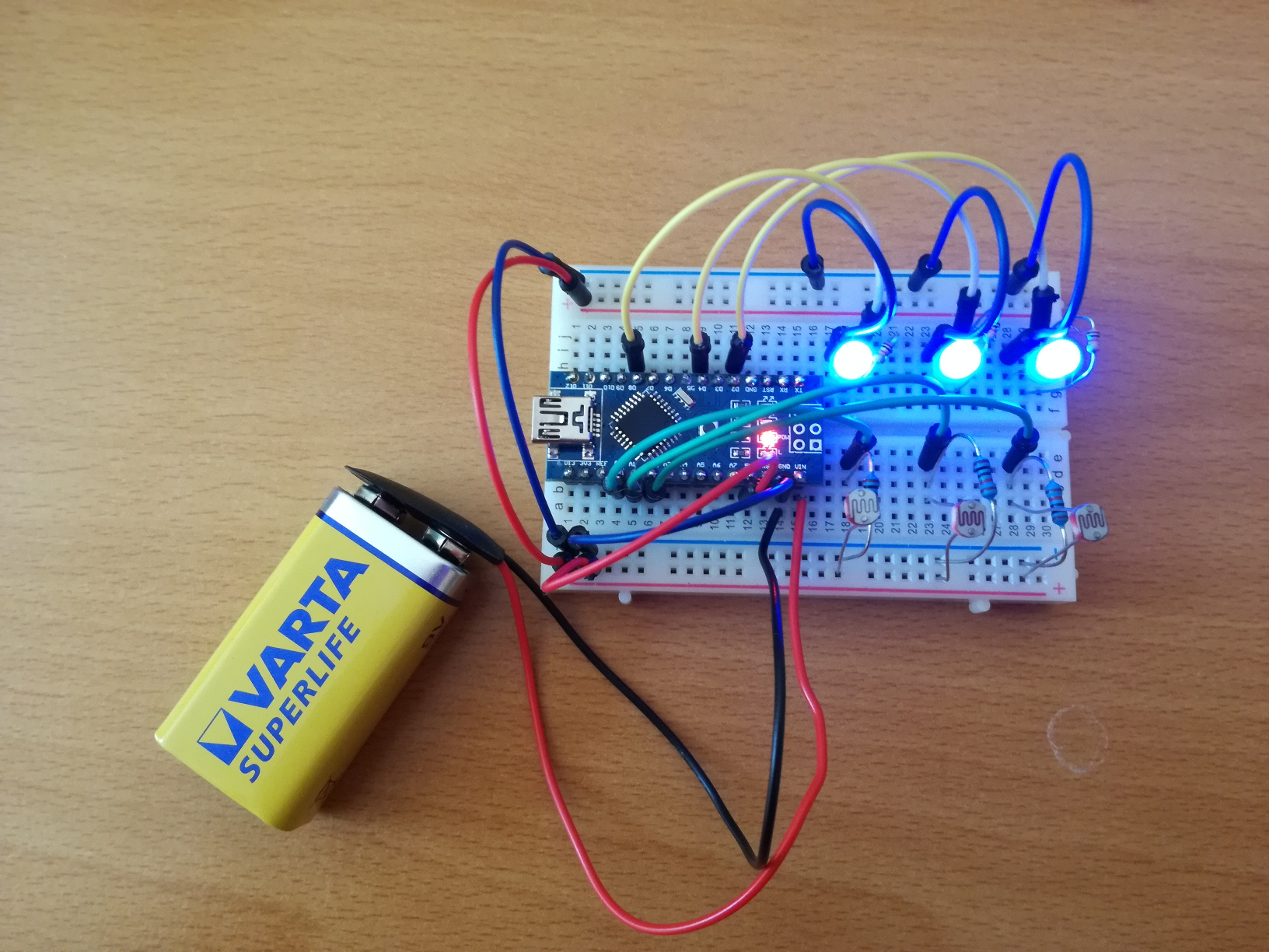 Photoresistor Based Blink Kornel Schrenk Arduino Advanced Led Circuit In